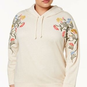 Style & Co Plus Size Cotton Embroidered Hoodie, 3X